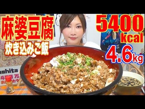 【MUKBANG】 SPICY Mapo Tofu Mixed Rice [4.6Kg] About 5400kcal [CC Available]|Yuka [Oogui]