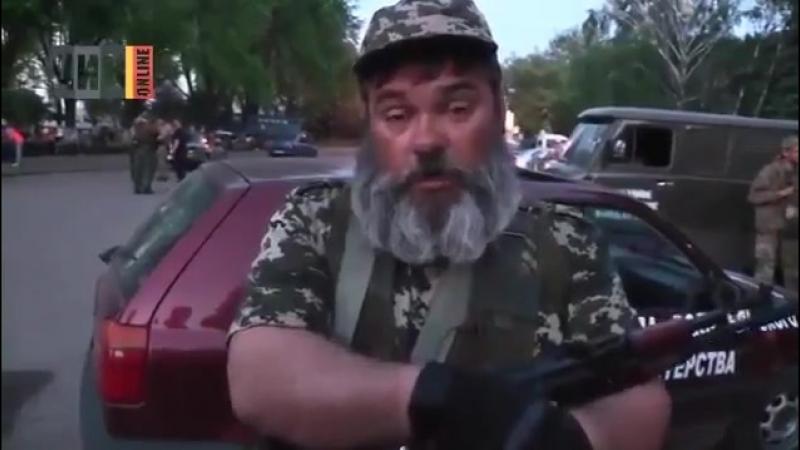 Рубрика: Листая старые страницы. 2014-й год, Бабай приглашает правосеков прийти в Краматорск. Правосеки пришли в Краматорск, а Б