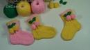 Детские носки с рельефной резинкой(на ребенка 1,5-2 года). Baby socks with embossed elastic.
