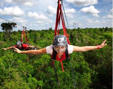 Полет на джунглями