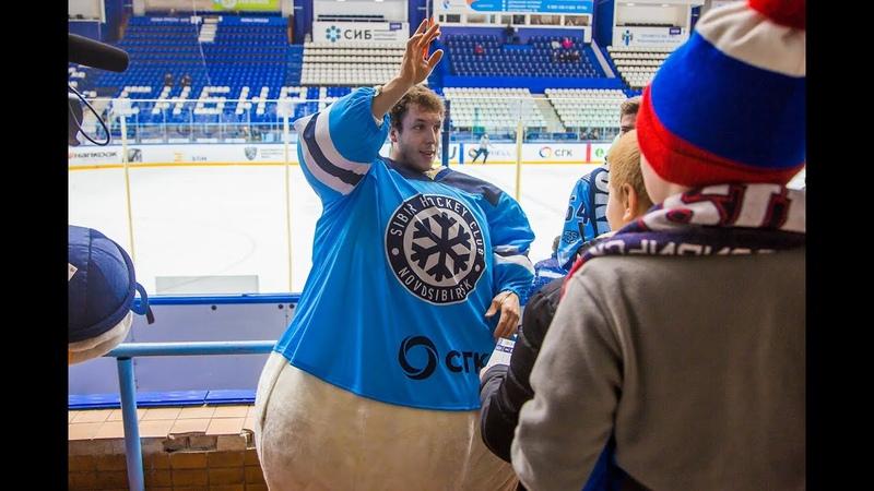 Джордан Карон проспорил болельщикам и стал Снеговиком на матче МХЛ