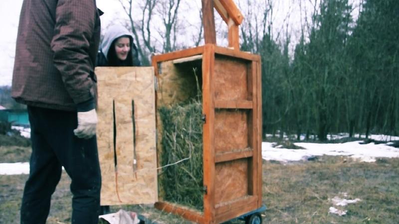 Пресс для сена самодельный \\ Hand hay baler
