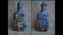 Декор бутылки в морском стиле Мастер класс The sea bottle Master Class