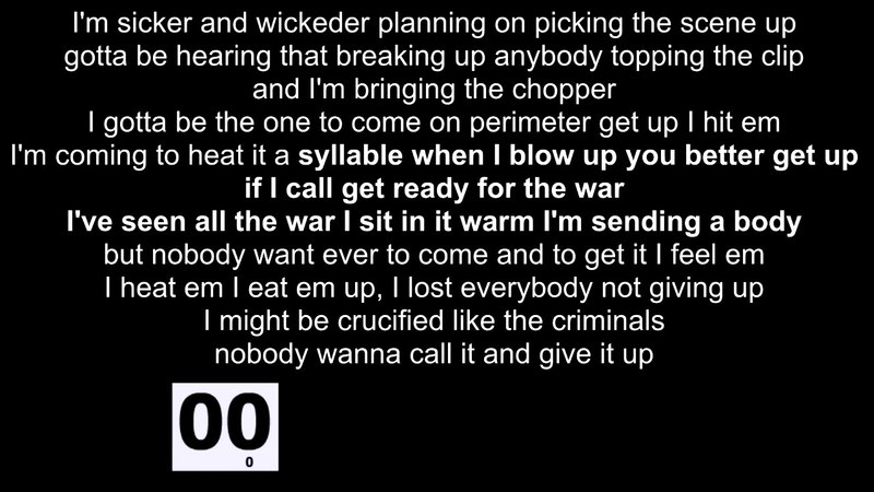 Undaground Choppers - Crucified Lyrics PROOF OF 25 SPS