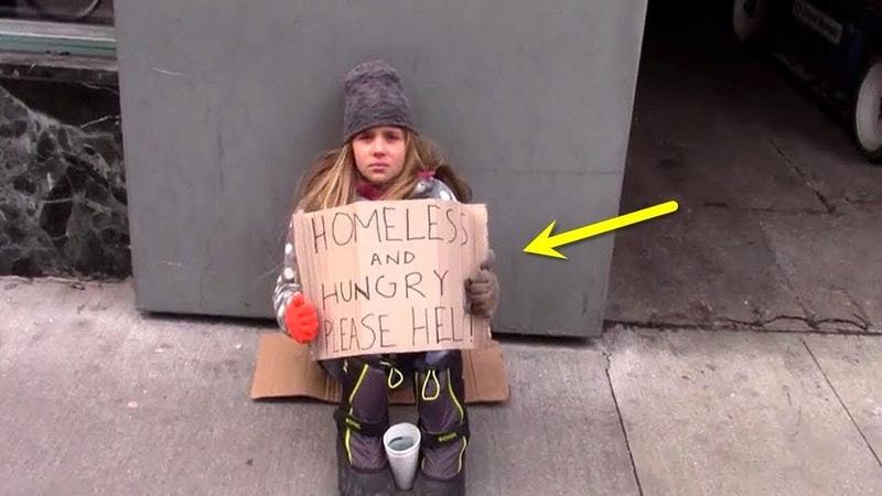 Als eine Obdachlose um Geld bettelt passiert etwas dass niemand für möglich gehalten hat