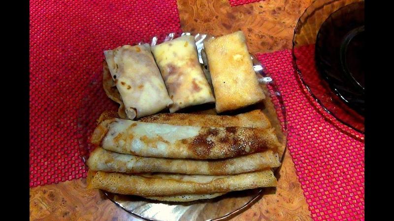 Быстро блины на Масленицу с начинками. Простые и вкусные домашние рецепты.