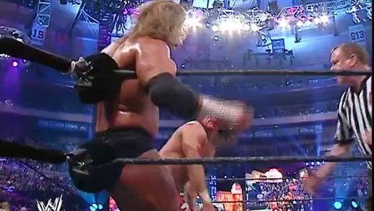 WrestleMania 20 - Shawn Michaels vs. Triple H vs. Chris Benoit - Video Dailymotion
