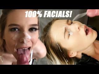 Kinkycouple111 (samantha flair) — 100% facials part 1: so much cum for my pretty face!