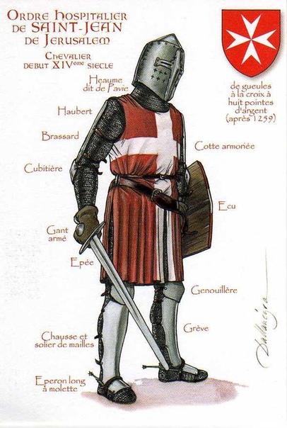 Рыцари разных орденов в подробных иллюстрациях