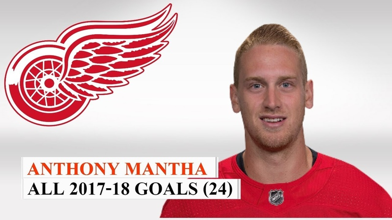 Anthony Mantha (39) All 24 Goals of the 2017-18 NHL Season