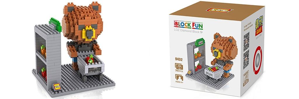 """Конструктор LOZ Diamond Block iBlock Fun """"Тед в магазине"""" 9432"""