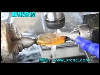 Процесс резьбы по янтарю на станке с чпу