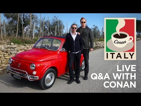 Live QA Conan Without Borders Italy