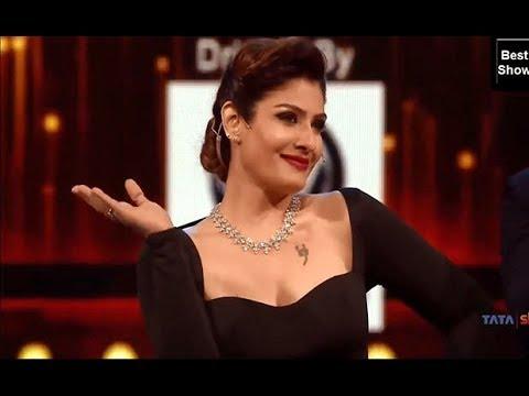 Raveena Tandon and Manish Paul comedy at Awards show funny monents
