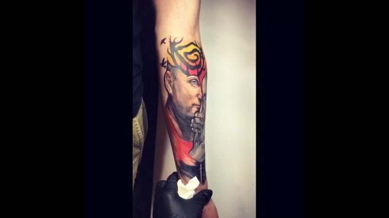 Лучшая татуировка дня. Цветная татуировка