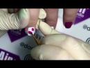 Дизайн ногтей ЦВЕТЫ - Роспись гель-лаками Lovely - Летний дизайн фиолетовые тюльпаны с серебром