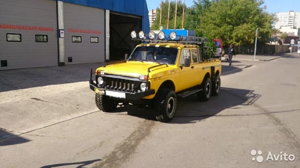 На «Авито» выставили на продажу уникальный 6-колесный пикап «Нива» В Москве выставили на продажу шестиколесный пикап «Нива» 6×6, созданный на базе отечественного внедорожника LADA 4×4 2002 года