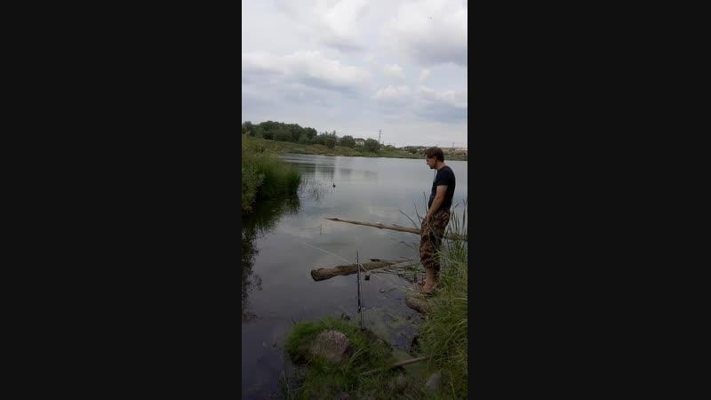 На рыбалке.озеро.мясокомбинат