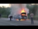 BMW 6 серии сгорела дотла ,делитесь огнетушителями люди добрые