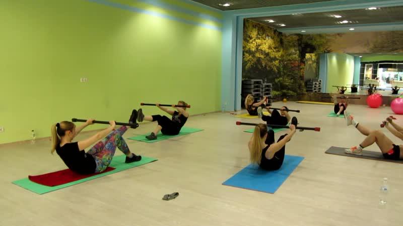 Упражнения с бодибаром (для ног и пресса)