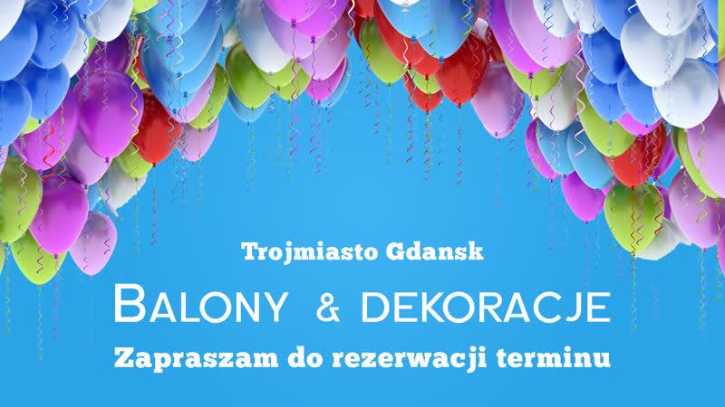 Balony dekoracje Gdansk
