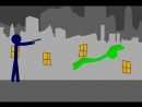 Зомби пытается напасть на человека