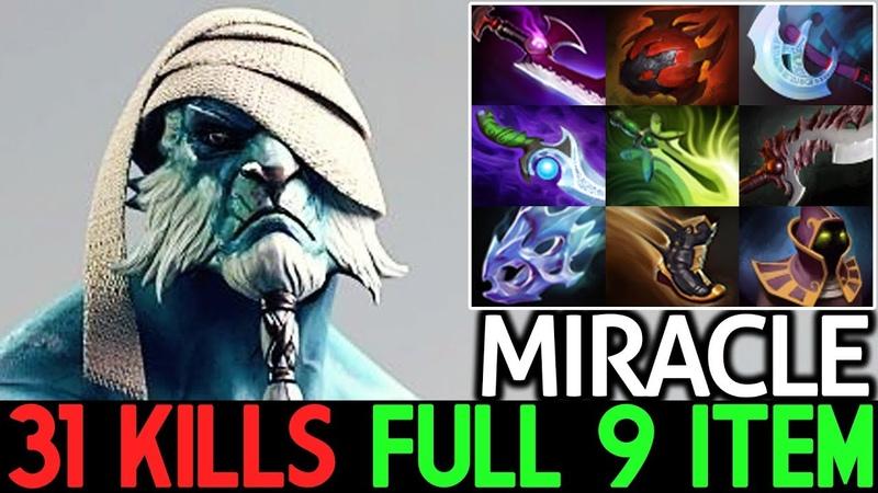 Miracle- [Phantom Lancer] Crazy Middle 31 Kills Full 9 Item 7.18 Dota 2