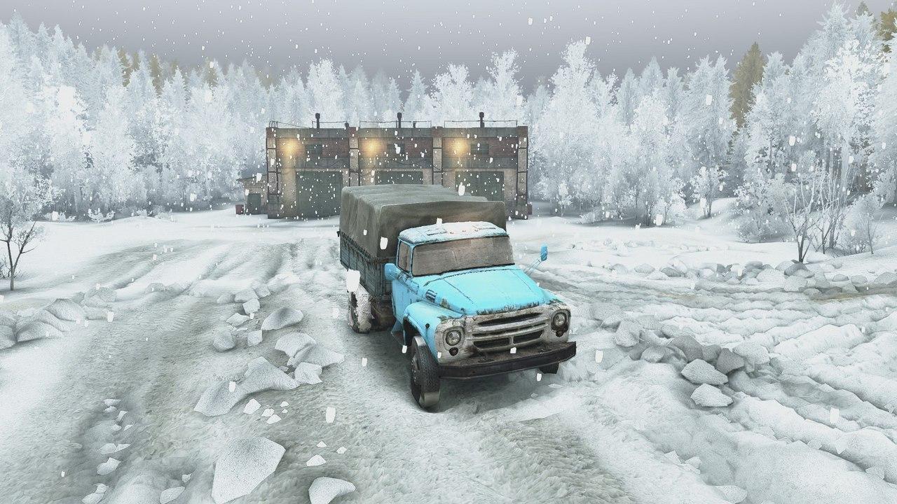 Зимний сезон + Падающий снег (Для последней версии игры) для Spintires - Скриншот 1