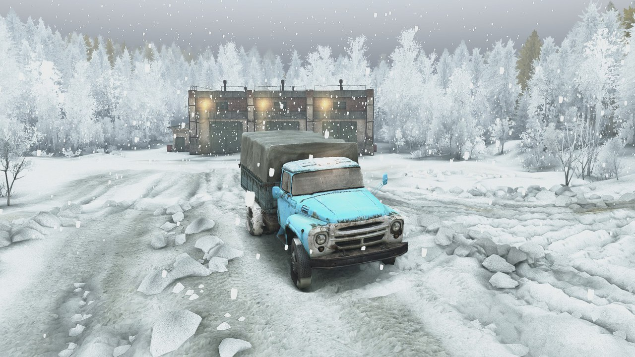 Карта Зимний сезон + Падающий снег SPIN TIRES 5DesRJdQz1o