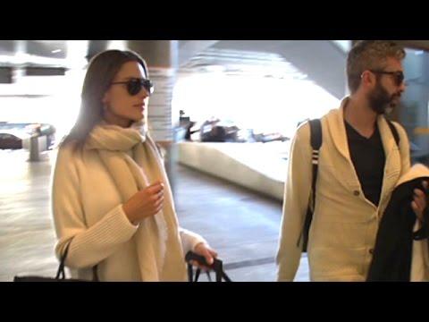 Supermodel Alessandra Ambrosio Catches A Flight From LAX