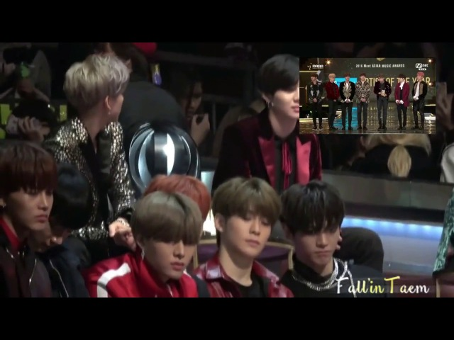 """2016 MAMA TAEMIN (SHINee), Bambam and NCT – REACTION to BTS """"Artist of the year"""" Full"""