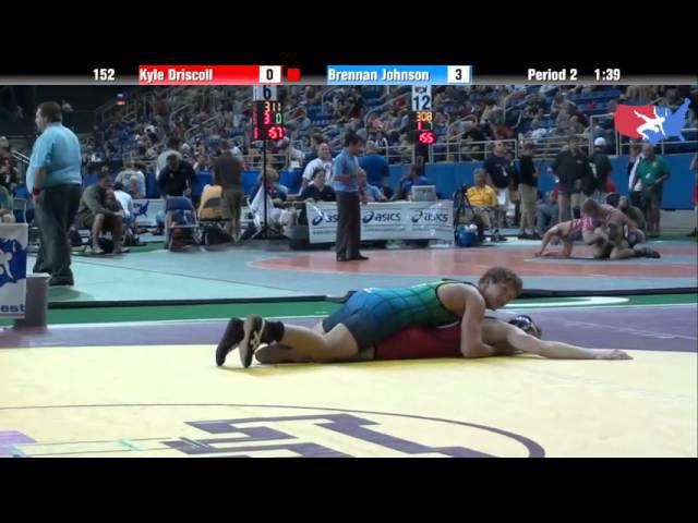 Fargo 2012 152 Round 1: Kyle Driscoll (Oklahoma) vs. Brennan Johnson (Missouri)