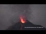 Krakatau volcano in continous eruption, 5 August 2018 - 4K Resolution
