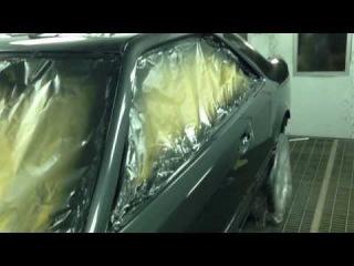Mercedes-benz CE300 C124 Покраска кузова и расширение задних арок под E500 W124