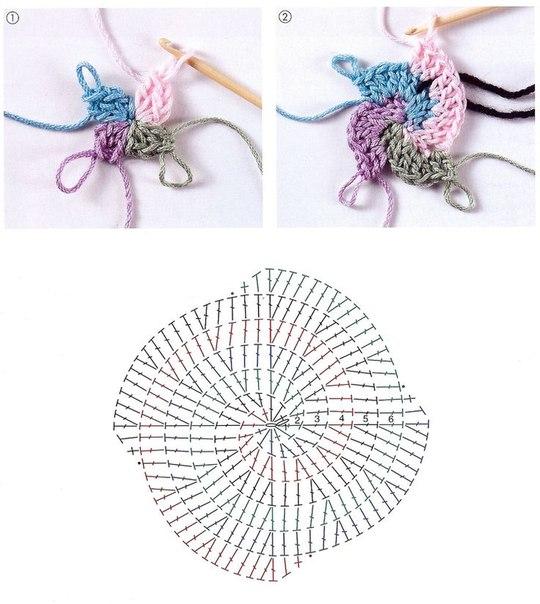 Крючок вязание коврик подсолнух