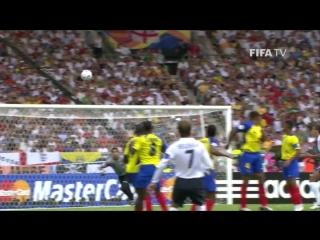 Гол Дэвида Бекхэма | Англия - Эквадор | ЧМ-2006
