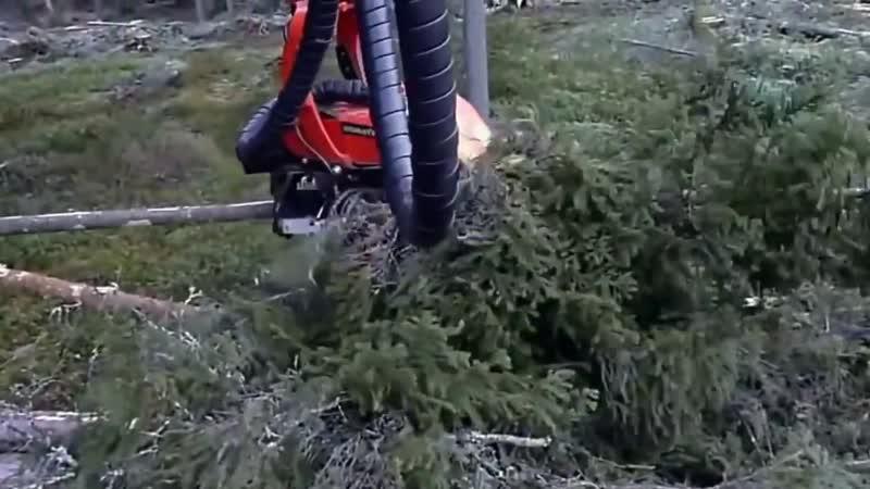 Японская чудо техника для рубки леса