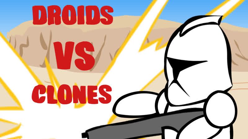 Cartoon Clones Vs Droids: Ninja and Russian rabbit (s1, e3)