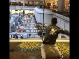 A 7-year-old boy loves to dance, and his moves were contagious enough to get a TSA agent to join in at the Orlando International