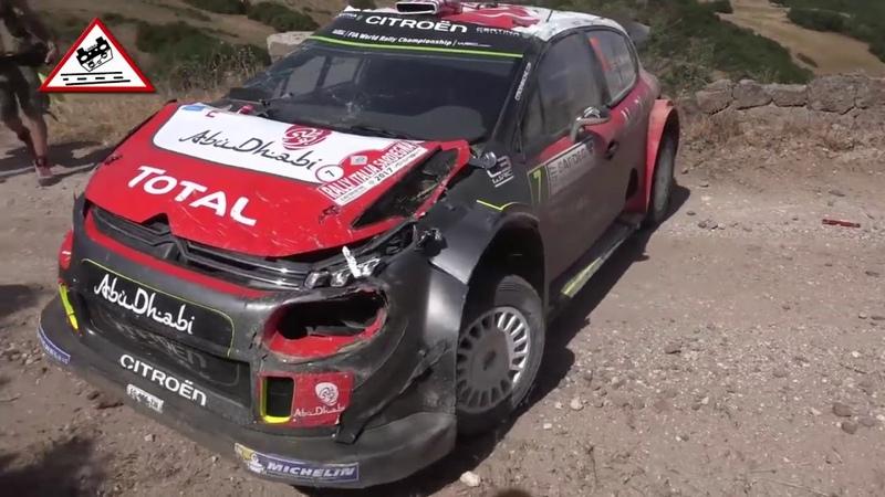Авария Ралли, После аварии Meeke Rallye Sardegna 2017 Passats de canto, ралли прикол rally