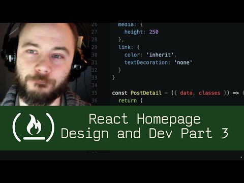 React Homepage Design and Development Part 3 (P5D35) - Live Coding with Jesse