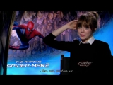 Эмма Стоун дает интервью восьмилетнему мальчику - Новый Человек-Паук 2! (русские субтитры)