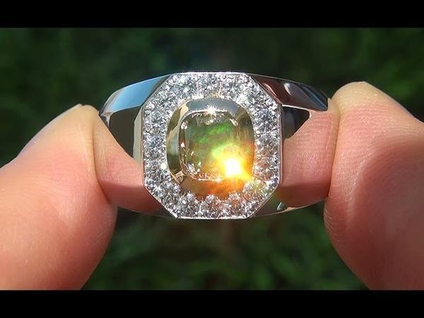 GIA Certified 1.74 ct Men's Natural SI1 Fancy Cognac Diamond 18k Gold Gents Ring - A141501