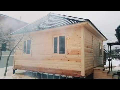 Дом Аляска 6*6 с вальмовой крышей Отзыв