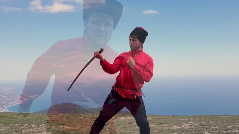 Песня А. Розембаума Казачья исполняется солист ансамбля В. Харев