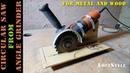 DIY Circular Saw from Angle Grinder / ручная Циркулярка из Болгарки своими руками