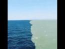 Место, где встречаются Атлантический и Тихий океан.Их воды соприкасаються, но не смешиються.