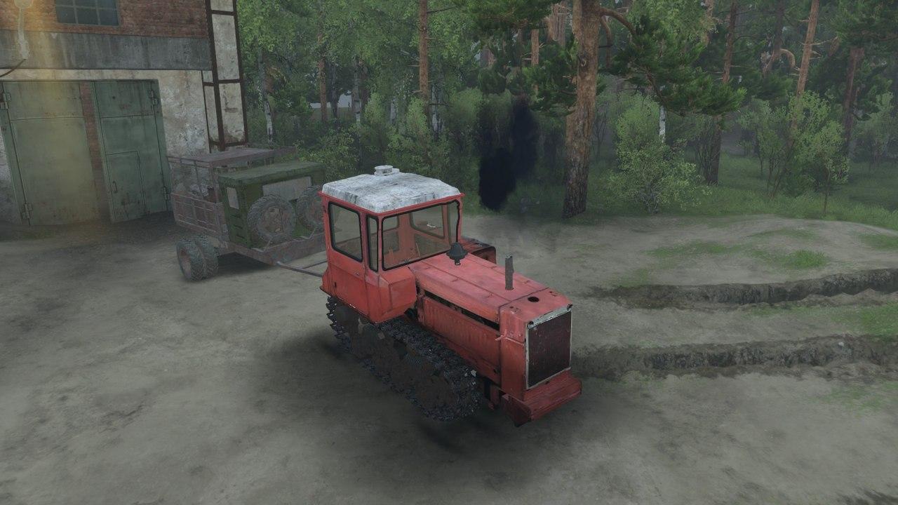 Трактор ДТ-75 v1.3 для версии 03.03.16 для Spintires - Скриншот 3