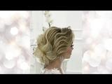 Изящная прическа с лилиями, видео урок