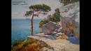 Морской пейзаж живопись маслом Можжевельник и скалы часть 2